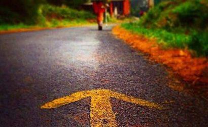 me walking the way